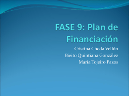 FASE 9: Plan de Financiación
