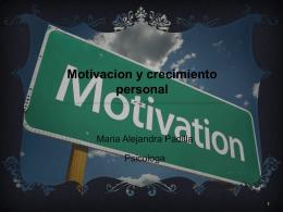 Motivacion y crecimiento personal