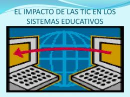 EL IMPACTO DE LAS TIC EN LOS SISTEMAS