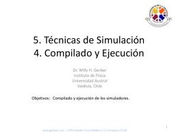 5. Tecnicas de Simulacion 4. Ejecucion