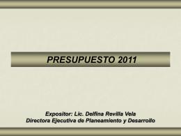 evaluacion ejecucion del presupuesto aテ前 2011