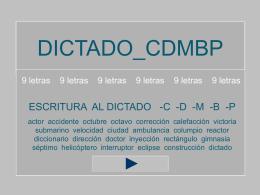 dictado_cdbmp - 9 letras