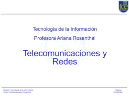 Clase 9 Telecomunicaciones y Redes
