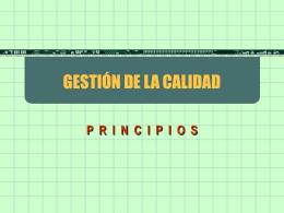 1. ISO GESTIÓN DE LA CALIDAD