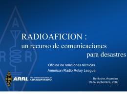 La Radio Afición para Emergencias