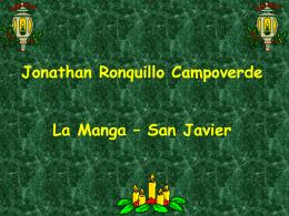 Felicitación de Jonathan Ronquillo