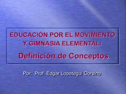 educación por el movimiento y gimnasia elemental