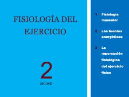 FISIOLOGÍA DEL EJERCICIO (presentación)