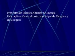 Fuentes Alternas CONAE - Proyecto de Energía Renovable