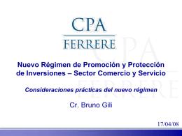 Cr. Bruno Gili - Cámara Nacional de Comercio y Servicios