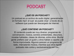 ¿què es un podcast?