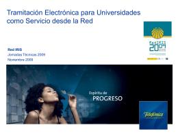 Tramitación Electrónica para Universidades como