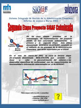 SIGAF-Cartel Culminación etapa Blueprint