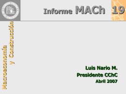 Presentación Mach N° 19 Luis Nario