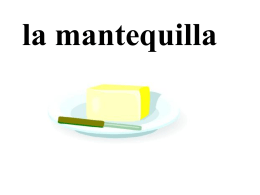 la mantequilla - RSMS World Language