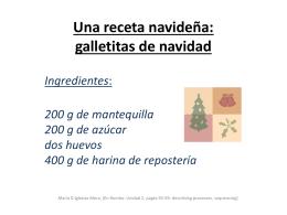 Una receta navideña: galletitas de navidad Ingredientes