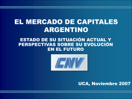 Diapositiva 1 - Comisión Nacional de Valores