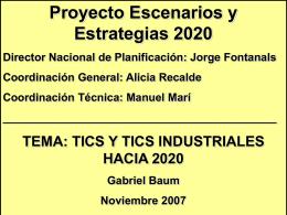 Gabriel Baum - Proyecto Escenarios y Estrategias 2020