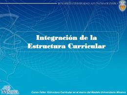 Integración de la Estructura Curricular