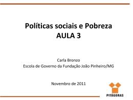Politicas sociais e Pobreza AULA 3