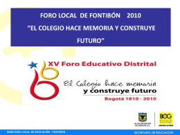FORO LOCAL DE FONTIBÓN 2010