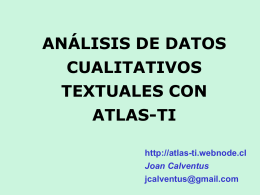 Teoría Fundada - Atlas-ti