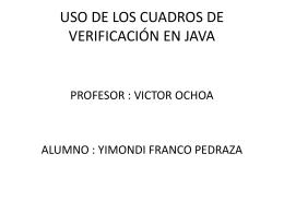 USO DE LOS CUADROS DE VERIFICACIÓN EN JAVA
