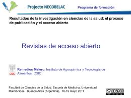 Regina Castro, Reme Melero: Revistas de acceso