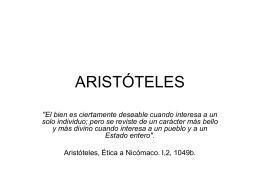 ARISTÓTELES - Alarcosfilosofia