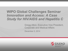 A Case Study for HIV/AIDS and Hepatitis C