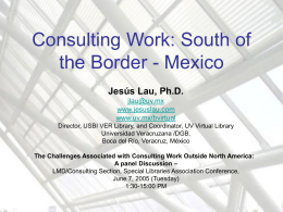 Library Consultancy: The Case of Mexico