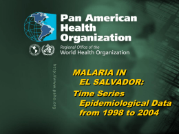 Time Series Epidemiological Data from 1998 to 2004
