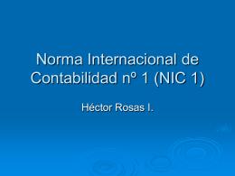 Norma Internacional de Contabilidad nº 1 (NIC 1)