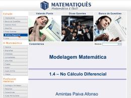 Modelagem Matemática no Cálculo Diferencial