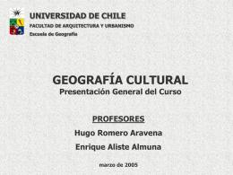 Marco Epistemológico de la Geografía Cultural