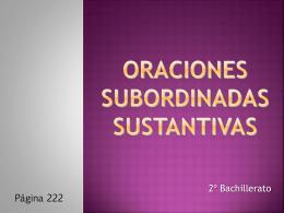 MARATÓN DE SUBORDINADAS SUSTANTIVAS