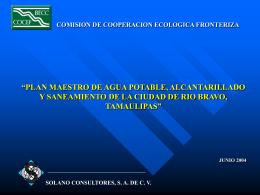 PLAN MAESTRO DE AGUA POTABLE, ALCANTARILLADO Y