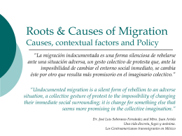 Root Causes of Migration - Cal