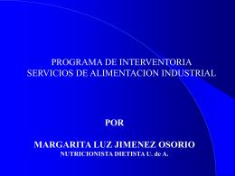 interventoria servicios de alimentacion