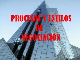 Procesos y Estilos de Negociación