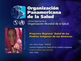 Programa Regional Salud de los Pueblos Indígenas de las