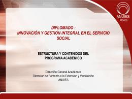 Innovación académica del servicio social en las IES