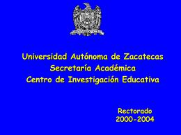 informe general de tutoría académica u.a.z