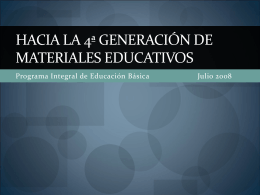 Políticas públicas de los materiales educativos