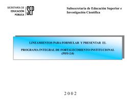 2.0 - Sistema Institucional de Gestión de la Calidad