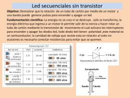 Led secuenciales sin transistor