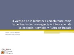 El Website de la Biblioteca Complutense como experiencia de