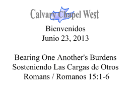 Romanos 15:1-2 - Calvary Chapel West