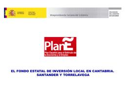 Fondo Estatal de Inversión Local en Cantabria y proyectos visitados