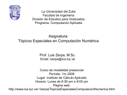 1 Topicos Especiales en Computacion